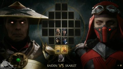 Mortal Kombat 11 The Reveal Select Screen Raiden and Skarlet