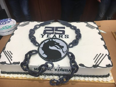 Mortal Kombat 25th Anniversary Cake