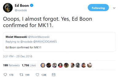 Ed Boon Teases Noob Saibot For MK11