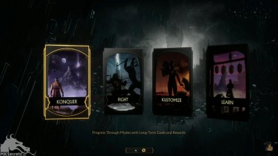 Mortal Kombat 11 Rain on the main menu