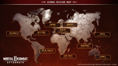 MK11 Aftermath Release Times