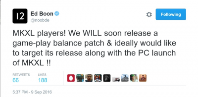 Ed Boon Balance Patch Confirmation