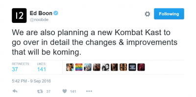 Ed Boon Kombat Kast Confirmation