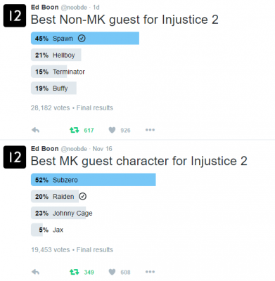 Injustice 2 Guest Characters Poll