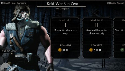 Mortal Kombat X Mobile Kold War Sub-Zero Challenge Screenshot
