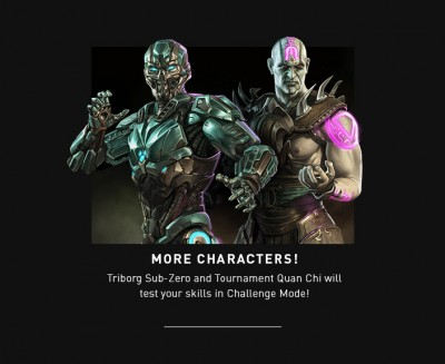 Mortal Kombat X Mobile Cyber Sub-Zero and Tournament Quan Chi