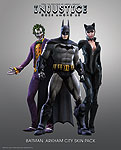 Injustice: Gods Among Us Arkham City DLC Skin Pack renders