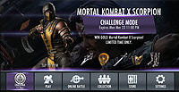 Injustice Gods Among Us Mobile Mortal Kombat X Scorpion Challenge