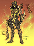 Injustice: Gods Among Us Scorpion Concept Art