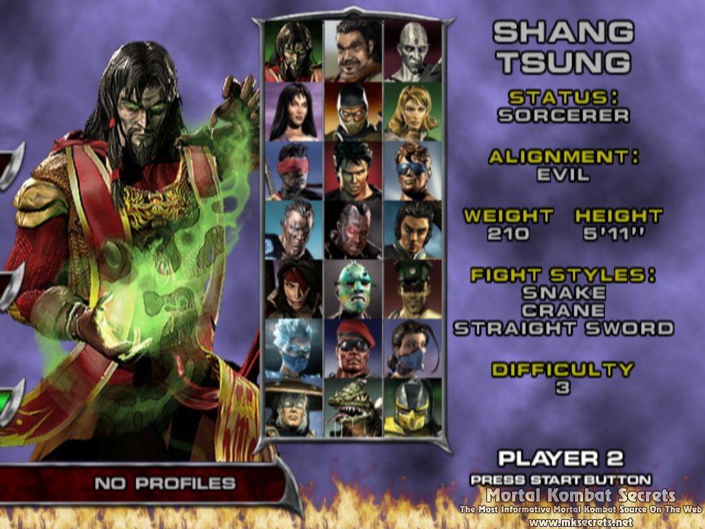 Mortal kombat x character select screen
