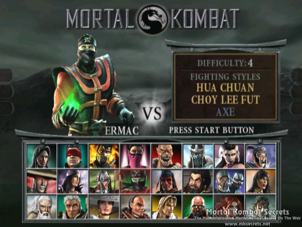 Mortal Kombat Deadly Alliance Cheats Gamecube