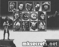 MK Trilogy for Game.Com - Character Select Screen