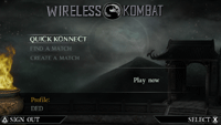 MK Unchained: Wireless Menu