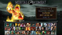 MK Unchained: Character Select Screen