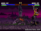 Cyrax's Air Throw is effected a little in MKT because the character size