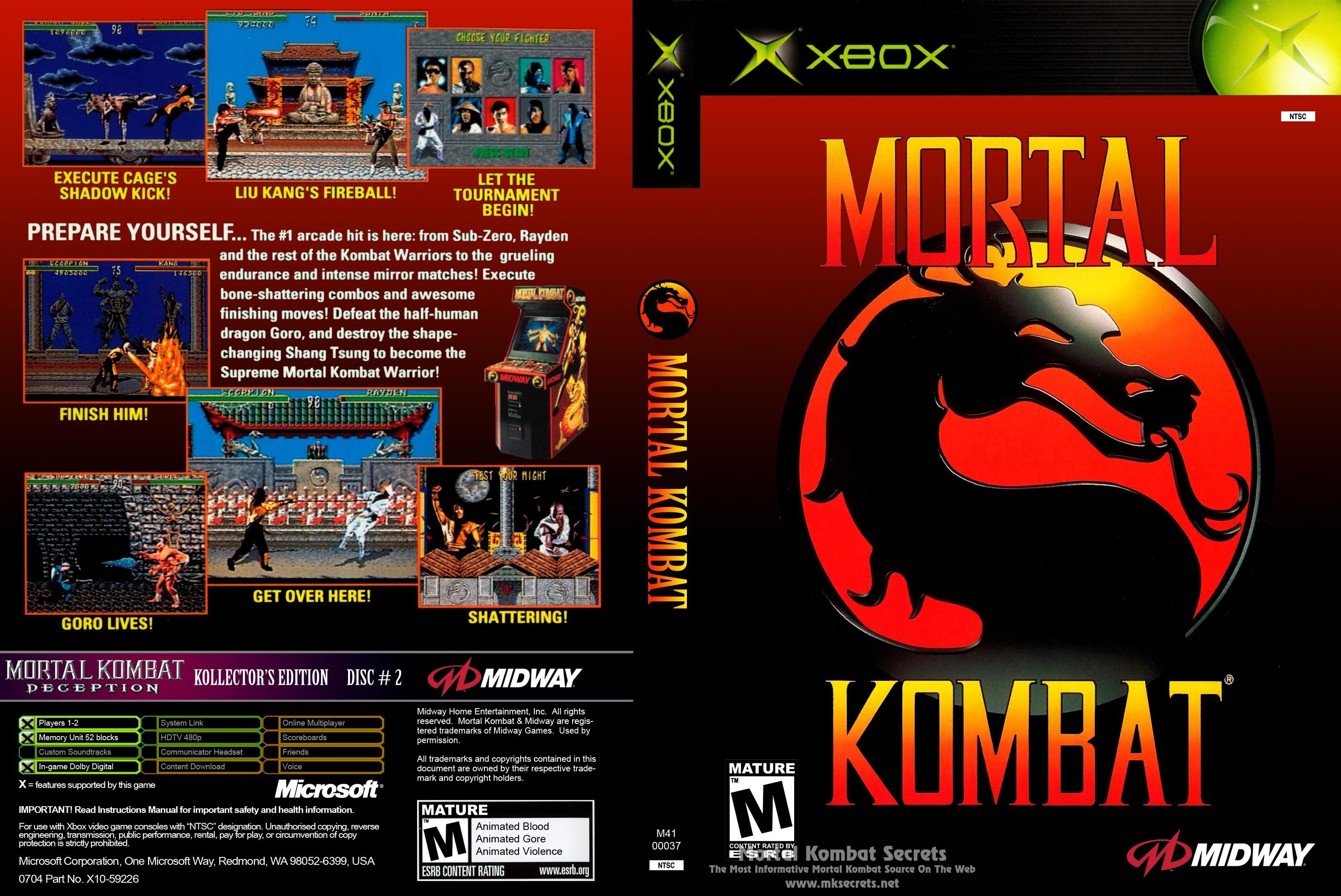 Mortal Kombat Armageddon Ps2 Fatalities Mortal Kombat 1 (1992)...