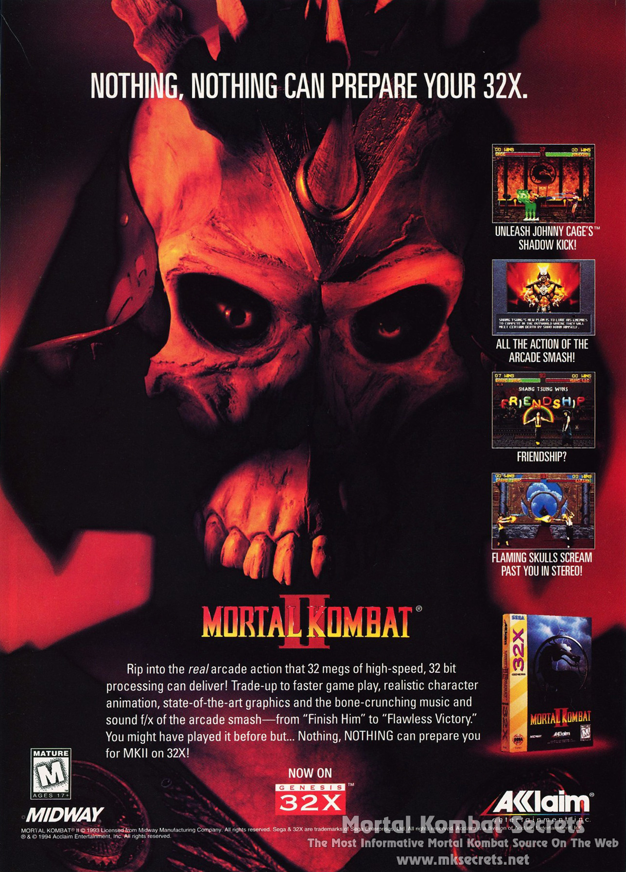 Mortal Kombat Ii Advertisements Mortal Kombat Secrets