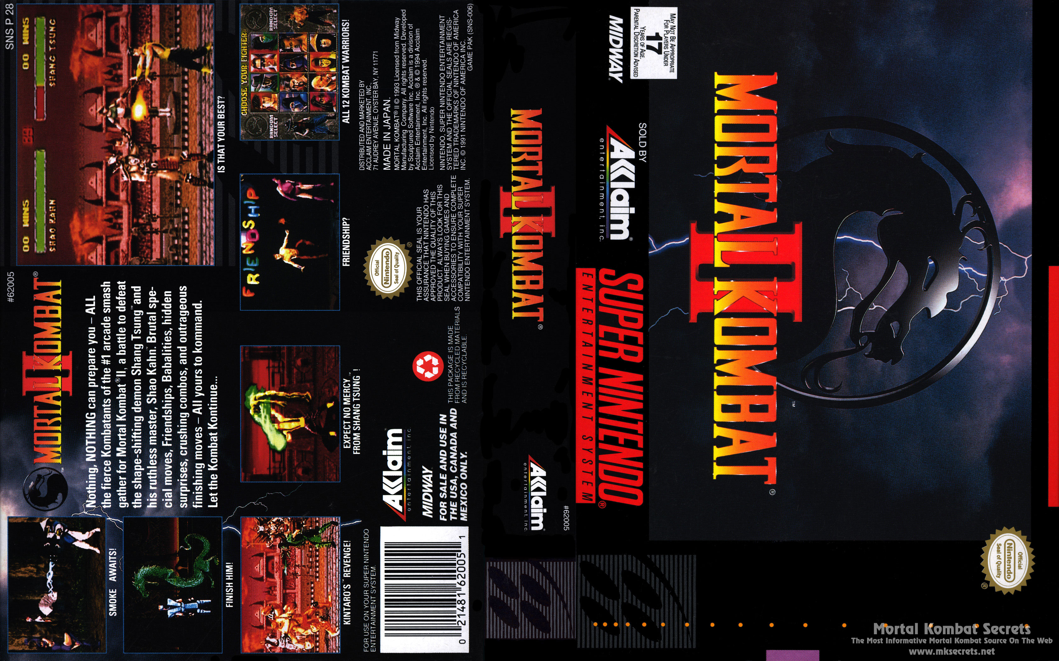 Mortal Kombat Ii Box Art Mortal Kombat Secrets