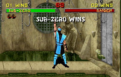 sub zero mortal kombat original game