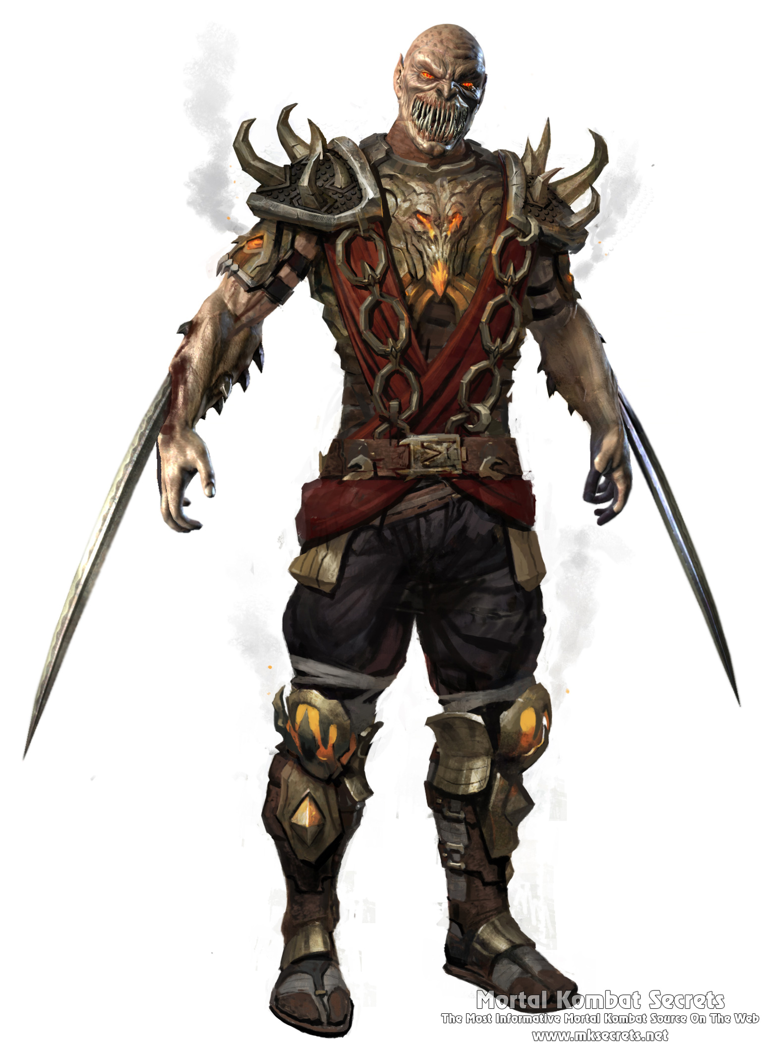Mortal Kombat 9 (2011) - Character Drawings - Mortal Kombat