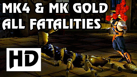 All Mortal Kombat 4 and Mortal Kombat Gold Fatalities in HD
