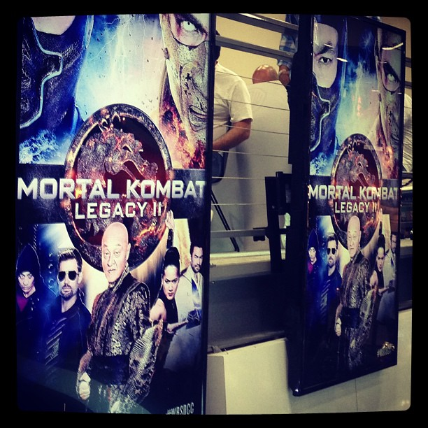 pictures from the panel  including a poster for the second seasonMortal Kombat Legacy Season 2 Poster