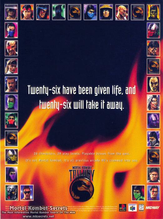 mortal kombat trilogy advertisements mortal kombat secrets