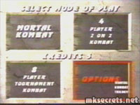 The original mode screen