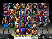 Final Select screen for PlayStation