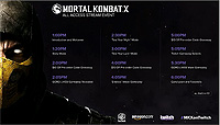 Mortal Kombat X All Access Stream Goro Schedule