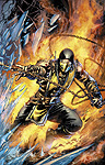 Mortal Kombat X - Comic Book Digital Issue 01 Scorpion Cover Art
