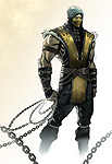 Mortal Kombat X Comic Book Scorpion Art