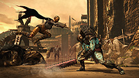 Mortal Kombat X E3 Screenshot Dvorah Kotal Kahn Outworld Market