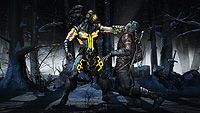 Mortal Kombat X E3 Screenshot Kotal Kahn Scorpion Snow Forrest