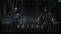 Mortal Kombat X E3 Select Screen Cassie Cage Vs Dvorah
