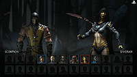 Mortal Kombat X E3 Select Screen Scorpion Vs Dvorah