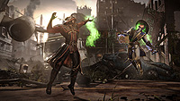 Mortal Kombat X Ermac Vs Raiden Destroyed City