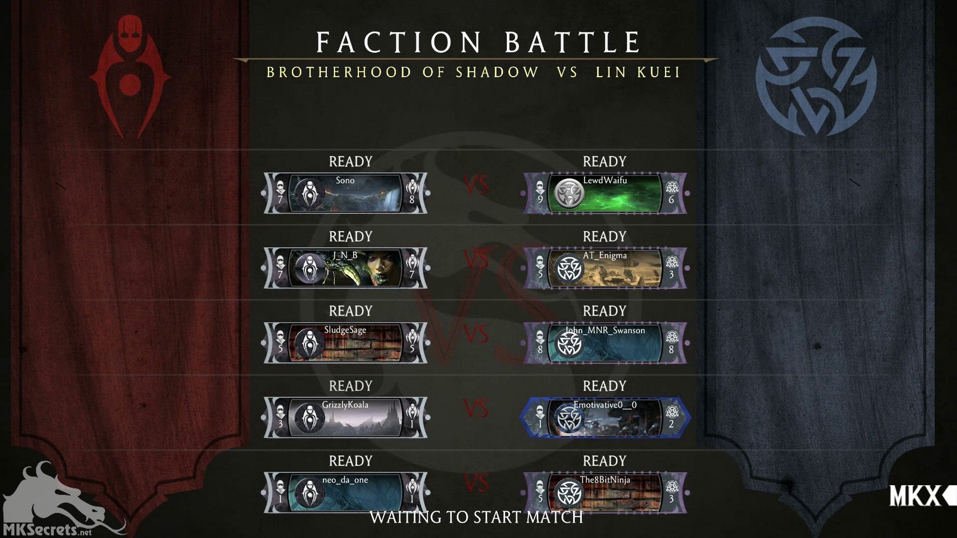 Mortal kombat x faction