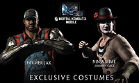 Mortal Kombat X Farmer Jax Ninja Mime Johnny Cage