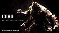 Mortal Kombat X Goro Announcement Render