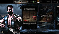 Mortal Kombat X Mobile Android Start Screen