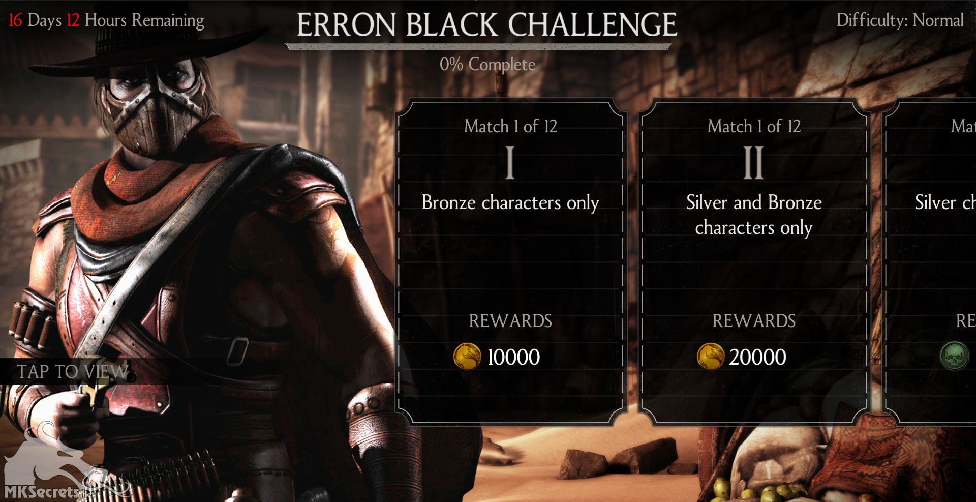 Mortal Kombat X Mobile Gunslinger Erron Black Challenge
