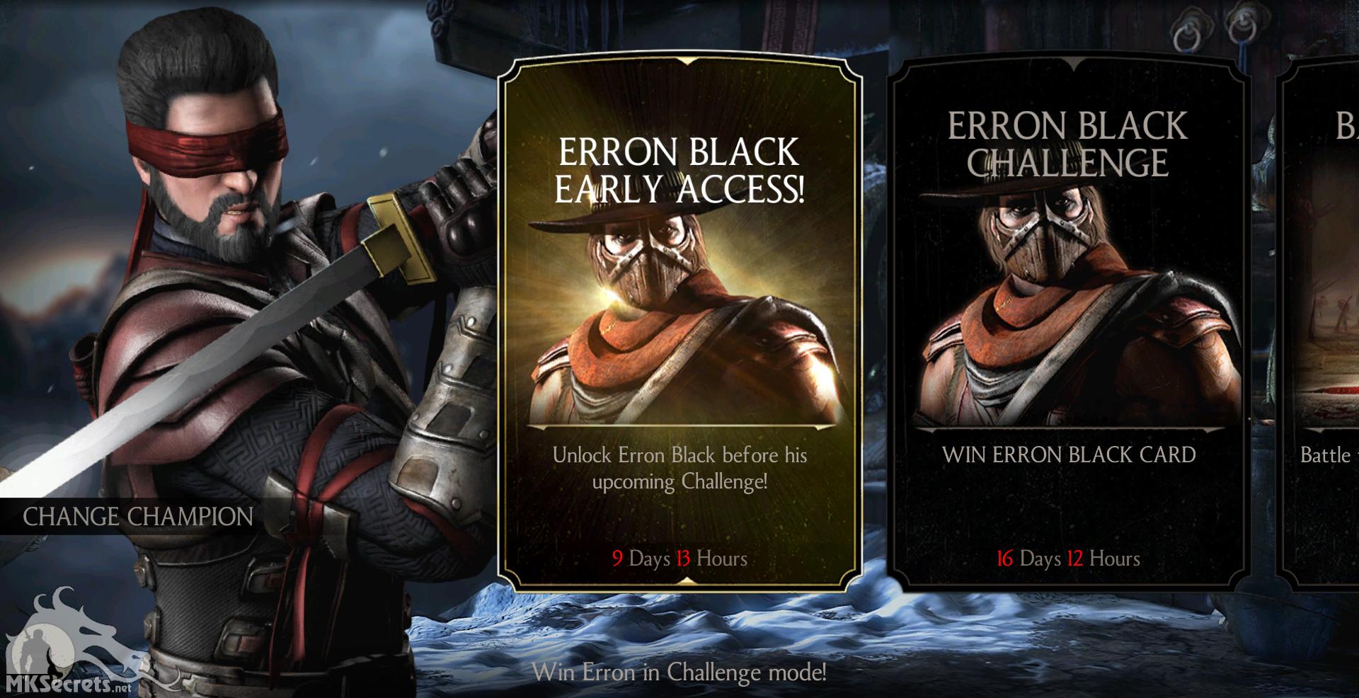 Mortal Kombat X Mobile Gunslinger Erron Black Challenge