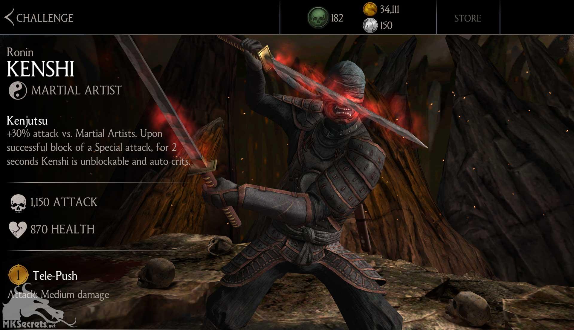 Mortal Kombat X Mobile Ronin Kenshi Challenge Ends Soon • Mortal