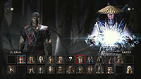 Mortal Kombat X Select Screen Kombat Kast 7 Liu Kang Erron Black Shinnok