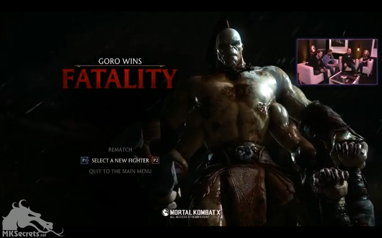 MKX All Access Stream Event - Goro Gameplay and More Summary
