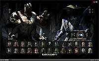 Mortal Kombat X Stream Select Screen With Goro