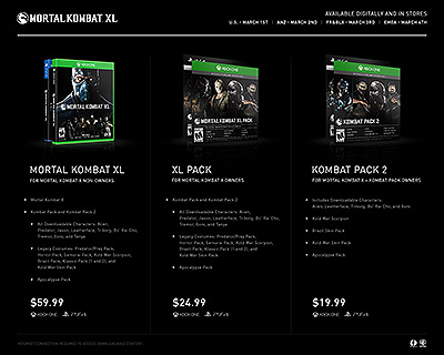 Mortal Kombat Xl Kombat Pack 2 Price List