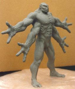 Mortal Kombat 1 Goro Stop Motion Clay Sculpture Mortal Kombat