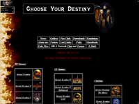 "The ""Choose Your Destiny"" page"